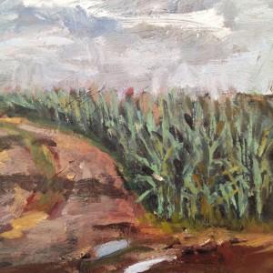 Mais, Ausschnitt Gemälde Alexander Broy