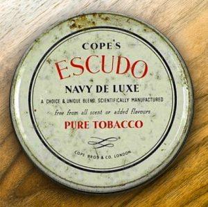 Eine der späteren Originaldosen von Cope