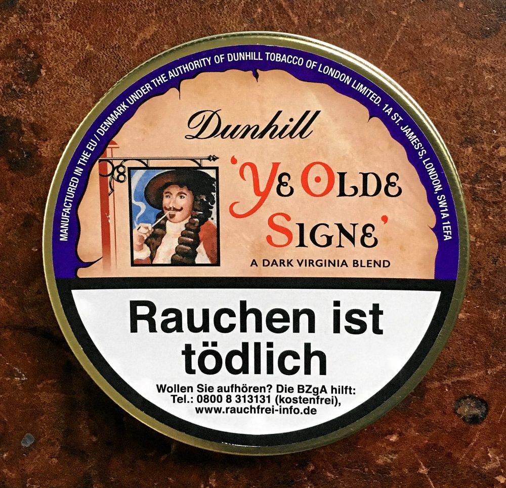 Dunhill Ye Olde Signe Das Pfeifenblog Mild 20 Tabakdose