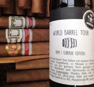 Flasche Rum/Karibik Edition und Zigarren